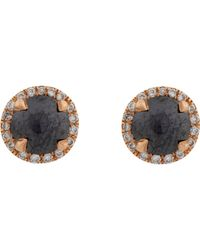 Monique Pean Atelier - Black Women's White Diamond & Champagne Diamond Studs - Lyst