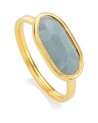 Monica Vinader - Blue Vega Aquamarine Ring - Lyst