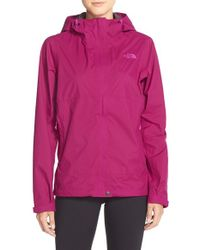 The North Face - Purple 'dryzzle' Hooded Jacket - Lyst