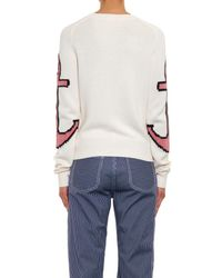 See By Chloé | Natural Anchor Cotton-blend Sweater | Lyst