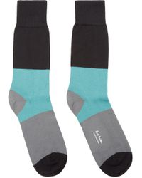 Paul Smith - Blue And Grey Striped Socks for Men - Lyst