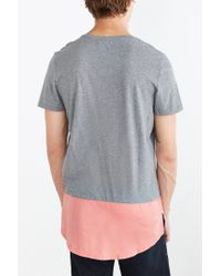 Kill City | Gray Chambray Hem Tee for Men | Lyst