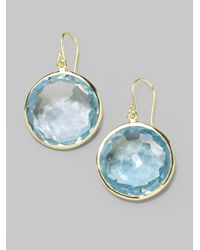 Ippolita - Lollipop Blue Topaz & 18k Yellow Gold Large Drop Earrings - Lyst