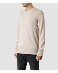 AllSaints - Brown Mode Merino Crew Sweater Usa Usa for Men - Lyst
