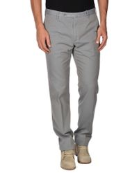 Incotex | Gray Casual Trouser for Men | Lyst
