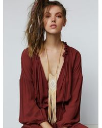 Free People | Natural Three Arrows Leather Womens Prophecy Pendant | Lyst