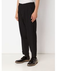 Yohji Yamamoto - Black Tapered Trousers for Men - Lyst
