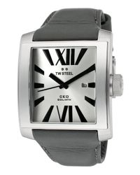 TW Steel - Metallic Men's Ceo Goliath Silver-tone Dial Grey Genuine Leather for Men - Lyst
