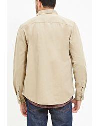 Forever 21 - Natural Two-pocket Cotton Shirt for Men - Lyst