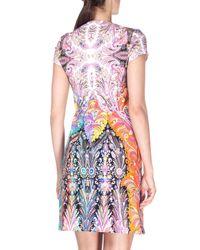 Etro - Blue Short-sleeve Colorblock Paisley-print Dress - Lyst