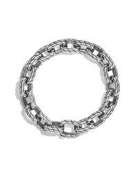David Yurman | Metallic Maritime Rope Oval Large Link Bracelet for Men | Lyst