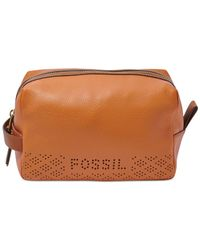 Fossil | Brown Gifts Leather Travel Bag | Lyst
