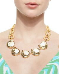 Lilly Pulitzer | Metallic Everglades Alligator Charm Statement Necklace | Lyst