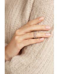 Anita Ko - Metallic Coil 18-Karat Rose Gold Diamond Phalanx Ring - Lyst