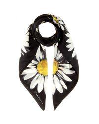 Dolce & Gabbana | Black Printed Silk Scarf | Lyst