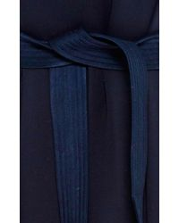 Martin Grant - Blue Silk V-Neck Dress - Lyst