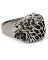 Saint Laurent | Metallic Silver-Plated Eagle Ring for Men | Lyst