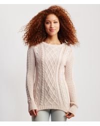 Aéropostale | Pink Cable Sweater | Lyst