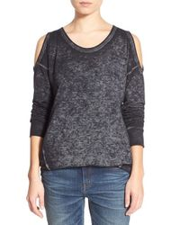 Stem | Black Cold Shoulder Sweatshirt | Lyst