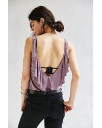 Truly Madly Deeply | Purple Flutter Tank Top | Lyst