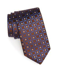 Eton of Sweden - Blue Geometric Silk Tie for Men - Lyst