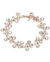 Givenchy | Metallic Silver-tone Crystal Bracelet | Lyst