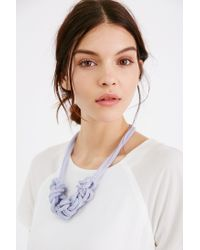 Urban Outfitters | Purple Museum Walls Knotted Necklace | Lyst