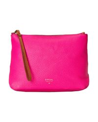 Fossil | Pink Large Cosmetic Case | Lyst