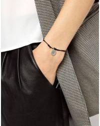 ASOS - Metallic Wear That There Sterling Silver Love Friendship Bracelet - Lyst