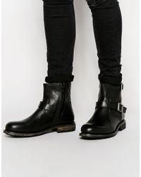 SELECTED | Black Ben Biker Boot for Men | Lyst