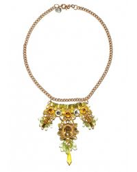 Matthew Williamson | Green Topaz Beaded Crescent Necklace | Lyst