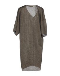 Space Style Concept - Gray Short Dress - Lyst