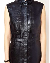 Markus Lupfer - Blue Glitter Shirt Dress - Lyst