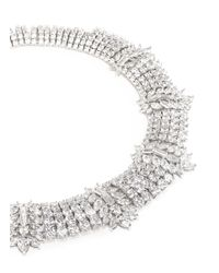 CZ by Kenneth Jay Lane | Metallic Marquise Cut Cubic Zirconia Station Necklace | Lyst