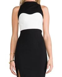 Nicholas - White High Neck Contrast Dress - Lyst