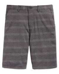 Hurley | Black Cambridge Stripe Chino Shorts for Men | Lyst
