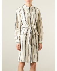 Tory Burch - Natural Striped Blouse Dress - Lyst