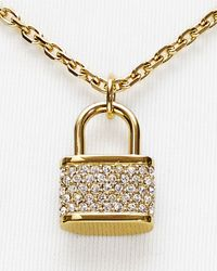 Michael Kors | Metallic Padlock Charm Necklace, 16"