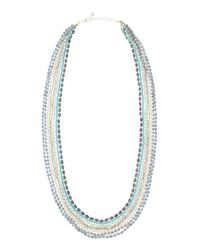 Nakamol - Blue Long Layered Crystal Necklace - Lyst