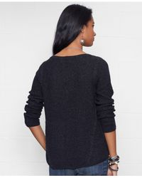Denim & Supply Ralph Lauren | Black Cable-knit Crew-neck Sweater | Lyst