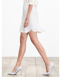 Banana Republic | White Crepe Flutter Skirt | Lyst