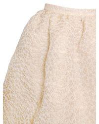 Rochas | Pink Flower Embossed Iridescent Skirt | Lyst