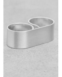 & Other Stories - Metallic Polished Double Ring - Lyst