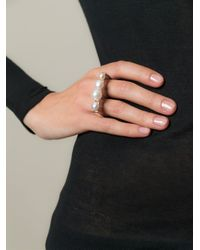 Bukkehave   Metallic 'pearly King' Double Ring   Lyst