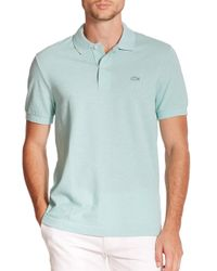Lacoste | Blue Tonal Croc Piqué Polo for Men | Lyst