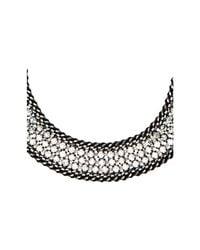 BCBGMAXAZRIA - Black Ombre Stone Statement Necklace - Lyst