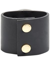 Marni - Large Black Resin Stone Cuff Bracelet - Lyst