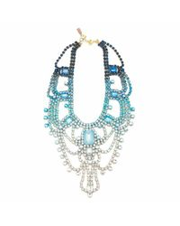 Doloris Petunia | Blue Paris Statement Necklace, Bleu | Lyst
