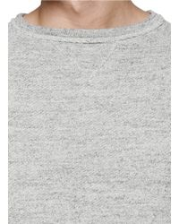 Nanamica - Gray Cotton French Terry Sweatshirt for Men - Lyst