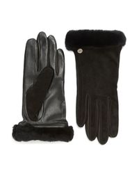 UGG | Black Leather Gloves for Men | Lyst